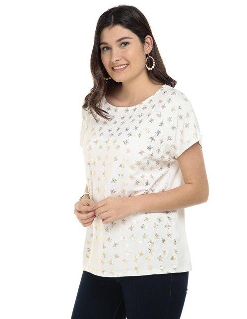 Blusa LIEB Basics blanca con diseño gráfico f238d69236c8c