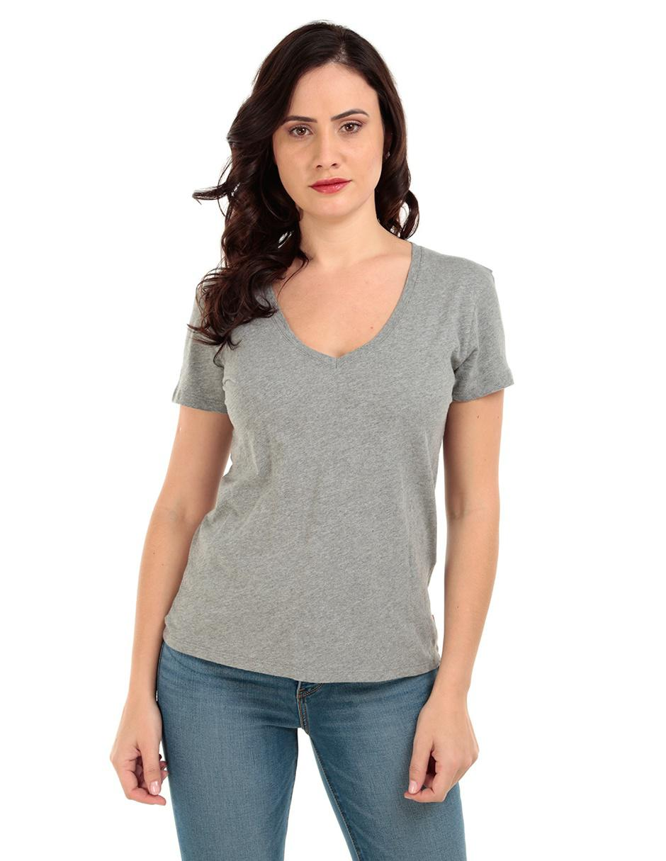 Playera lisa Levi s algodón gris acero 777025e59c718